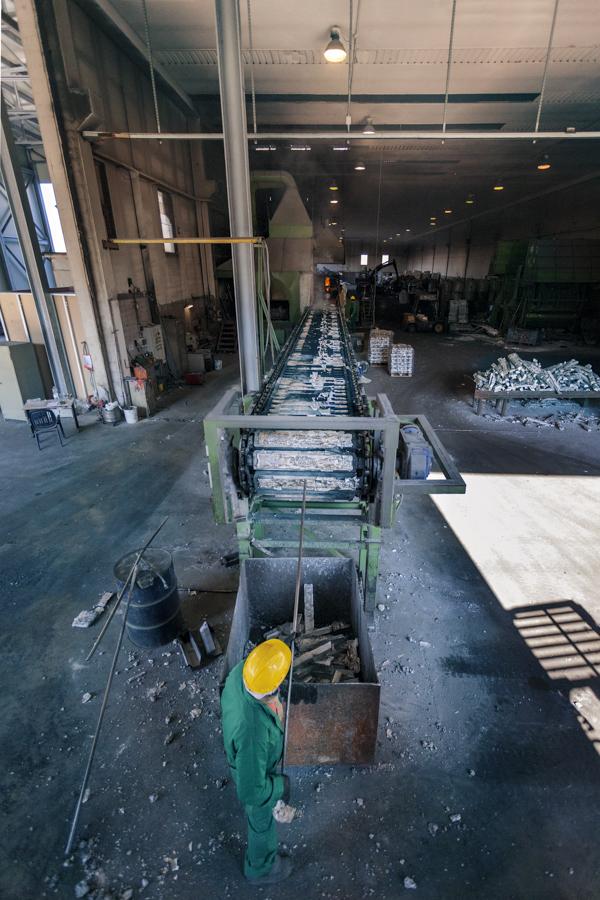 Panoramica spazio produttivo - Fometal - Fonderia alluminio, leghe madri e affini