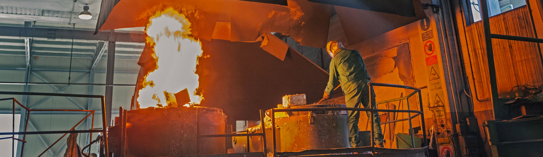 Uno dei forni - Fometal - Fonderia alluminio, leghe madri e affini